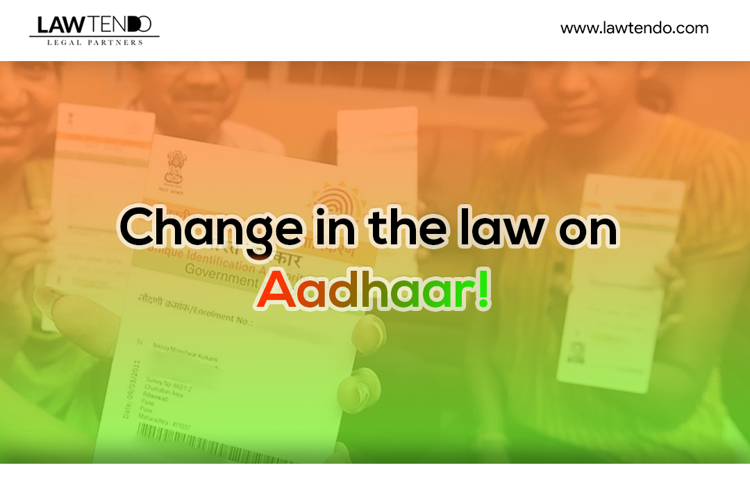 Legal Change in the Law on Aadhar with Mobile and Bank Account
