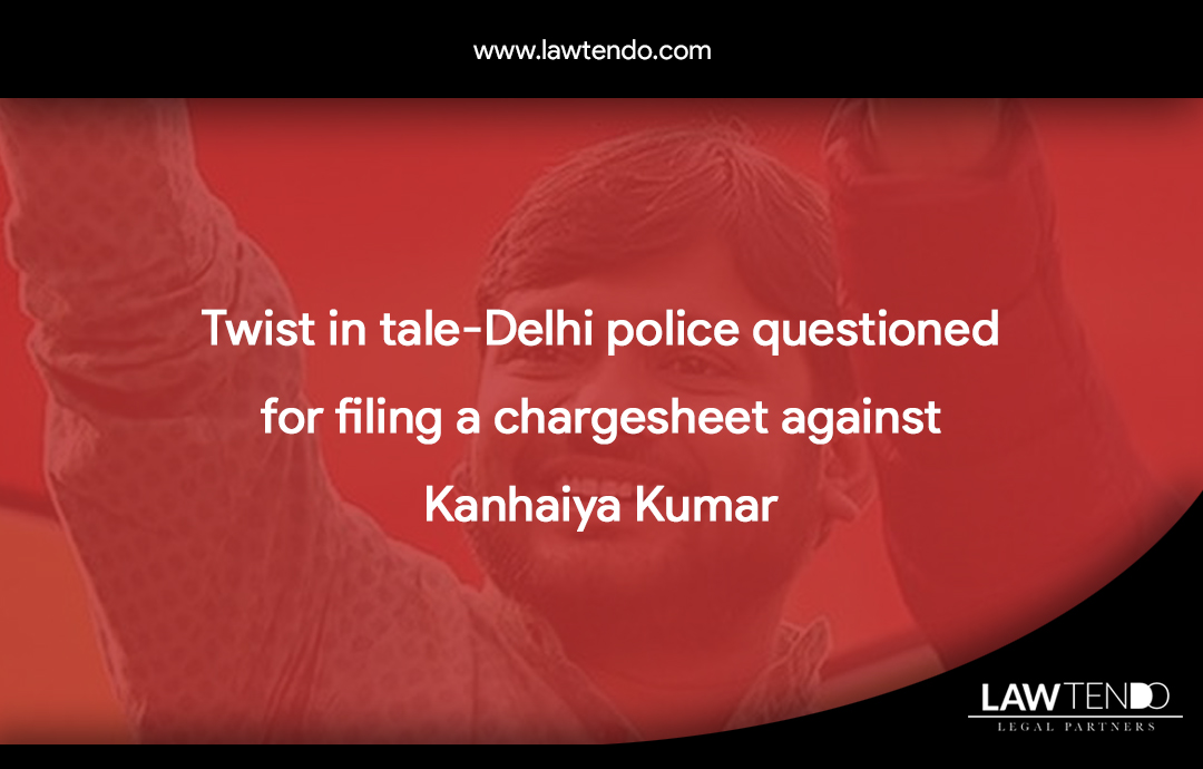 Twist in tale-Delhi police questioned for filing a chargesheet against Kanhaiya Kumar