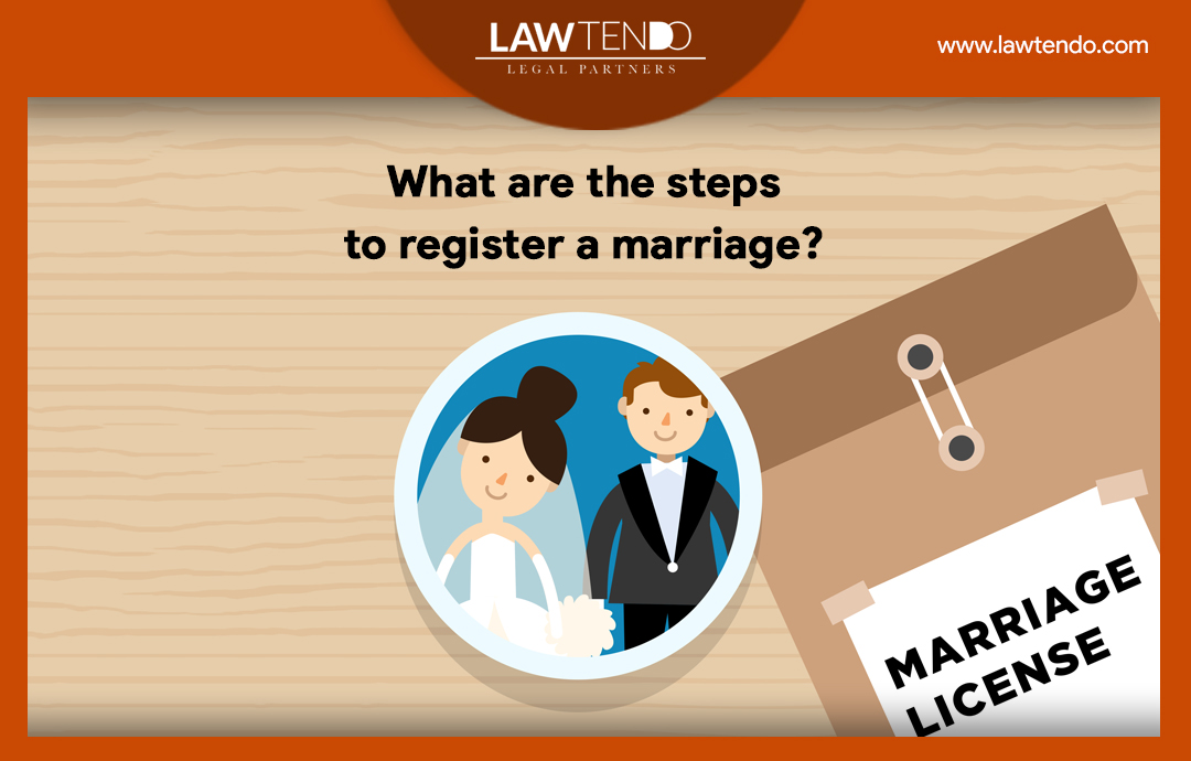 What are the steps to register a marriage?