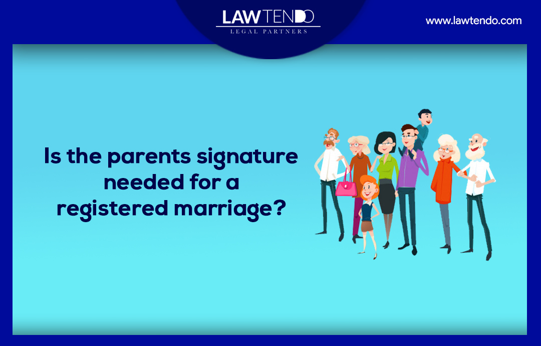 Is the parents signature needed for a registered marriage?