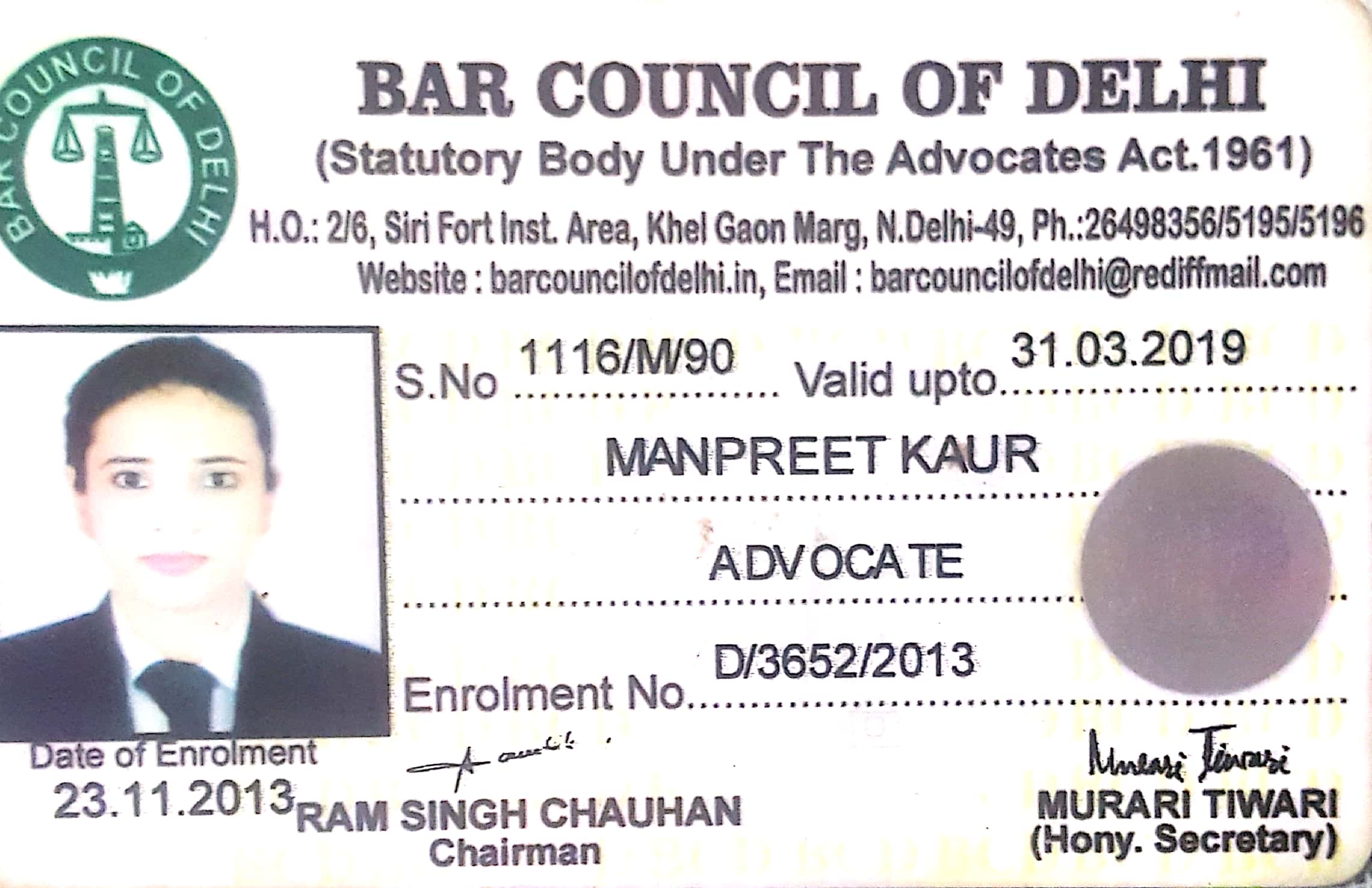 Advocate MANPREET  KAUR