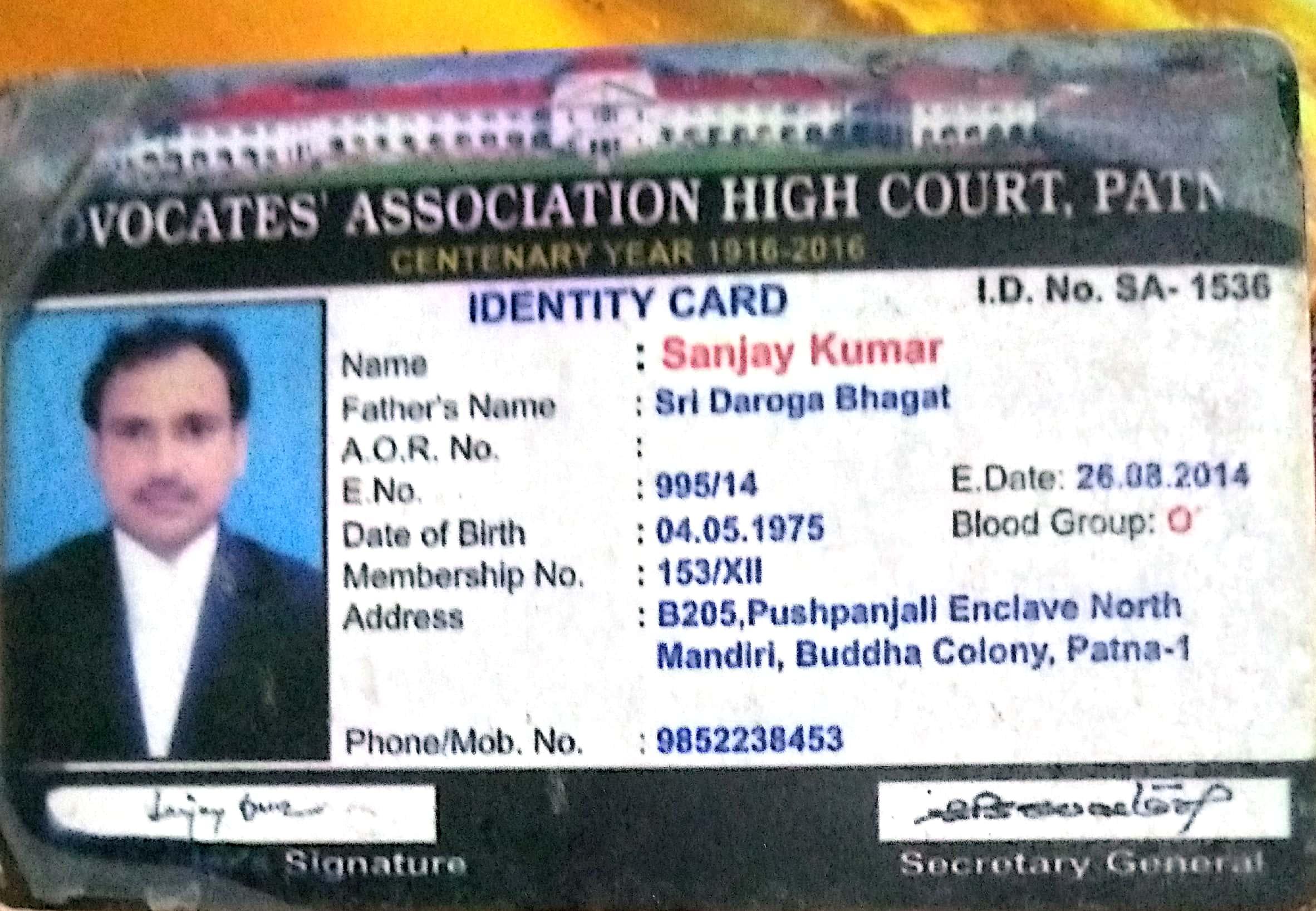Advocate Sanjay  Kumar